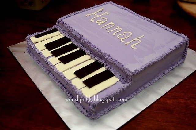 Peachy Guitar And Piano Shaped Cake Ideas Rainbow Cake Music Themed Funny Birthday Cards Online Barepcheapnameinfo