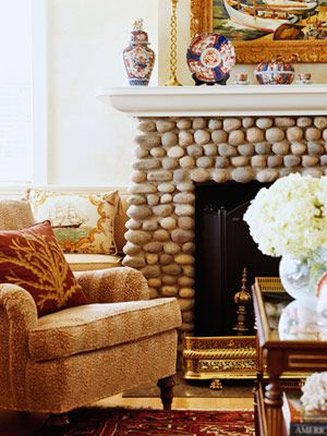 I want this fireplace SO. BAD. Its a good thing I know how to make it!