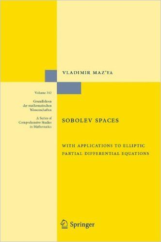 Sobolev spaces : with applications to elliptic partial differential equations Maz'ya, Vladimir G. Berlin : Springer, cop. 2011 Novedades Septiembre 2016