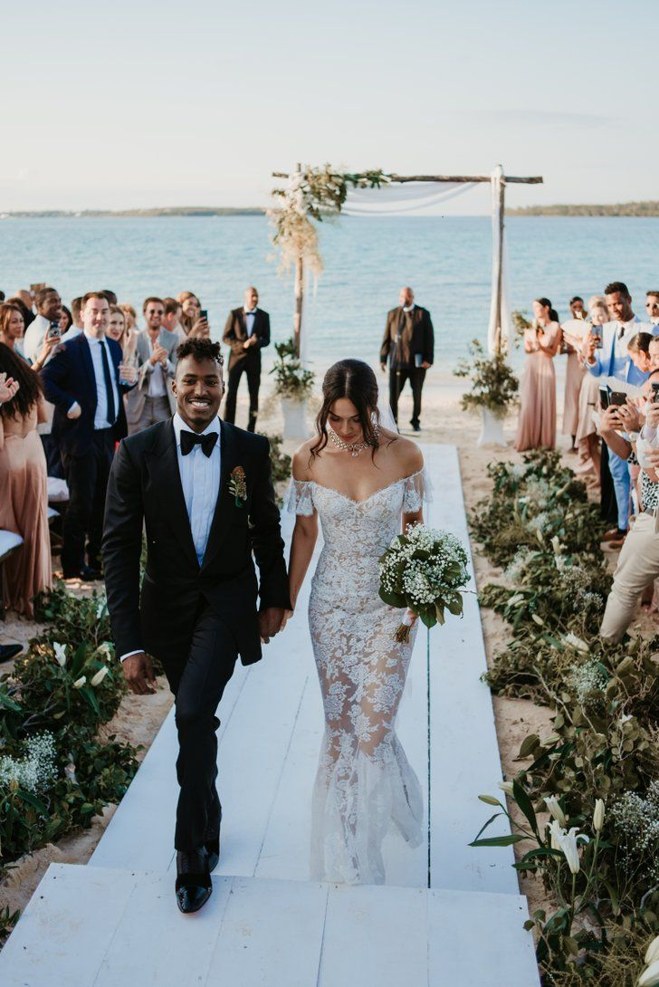 dacad34fac45 Oh My! This Bride s Supersheer Wedding Dress Is What Dreams Are Made ...