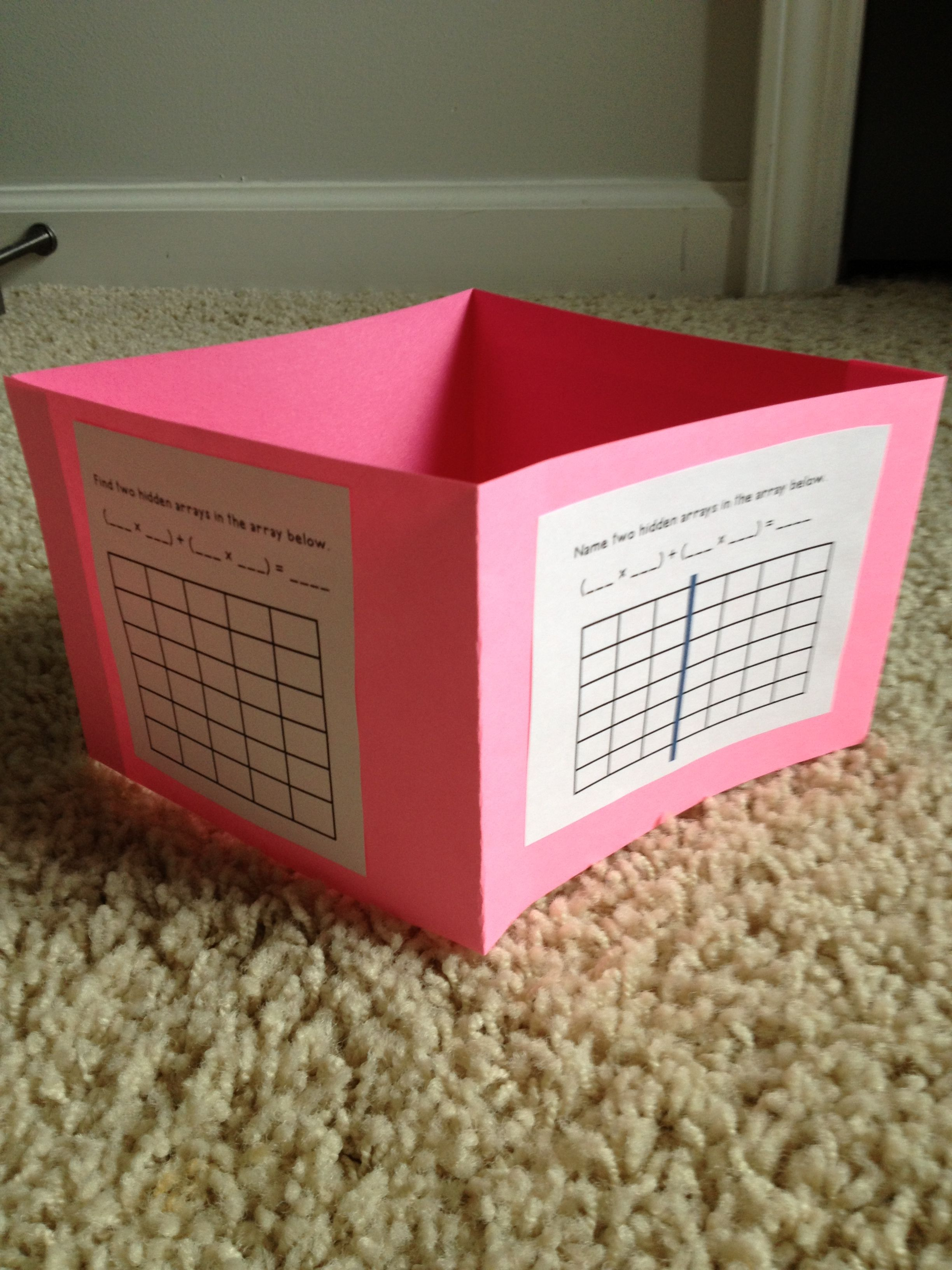 Fun Foldable To Practice The Distributive Property Using
