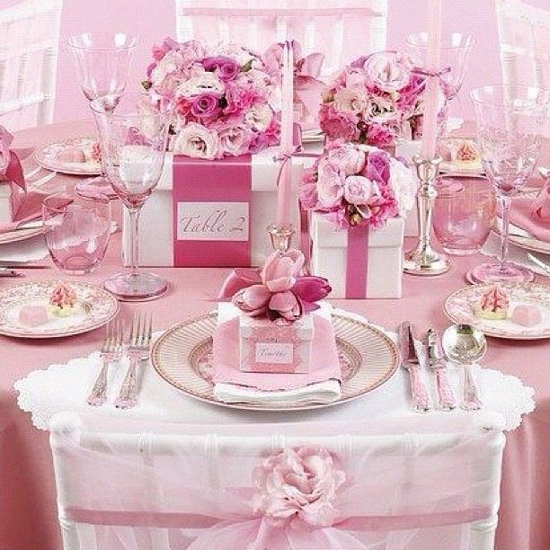 All Pink Everything: All Pink Everything Perfect For An Upscale Baby Shower Or