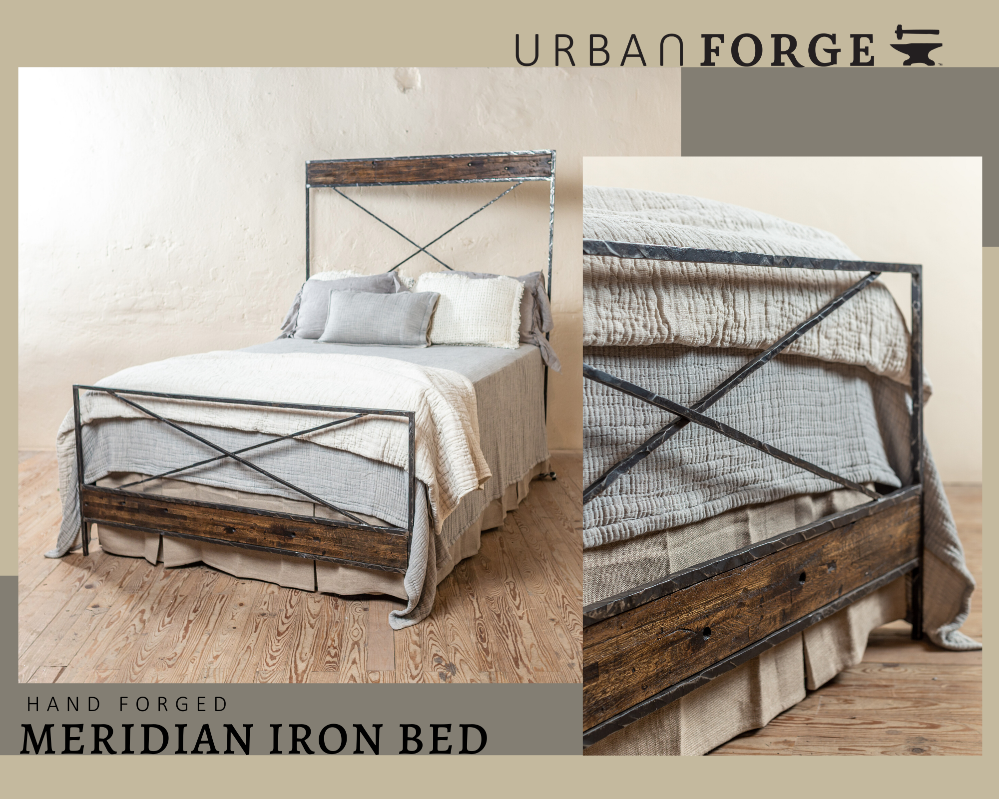 Meridian Hand Forged Iron Bed In 2020 Iron Bed Custom Wrought