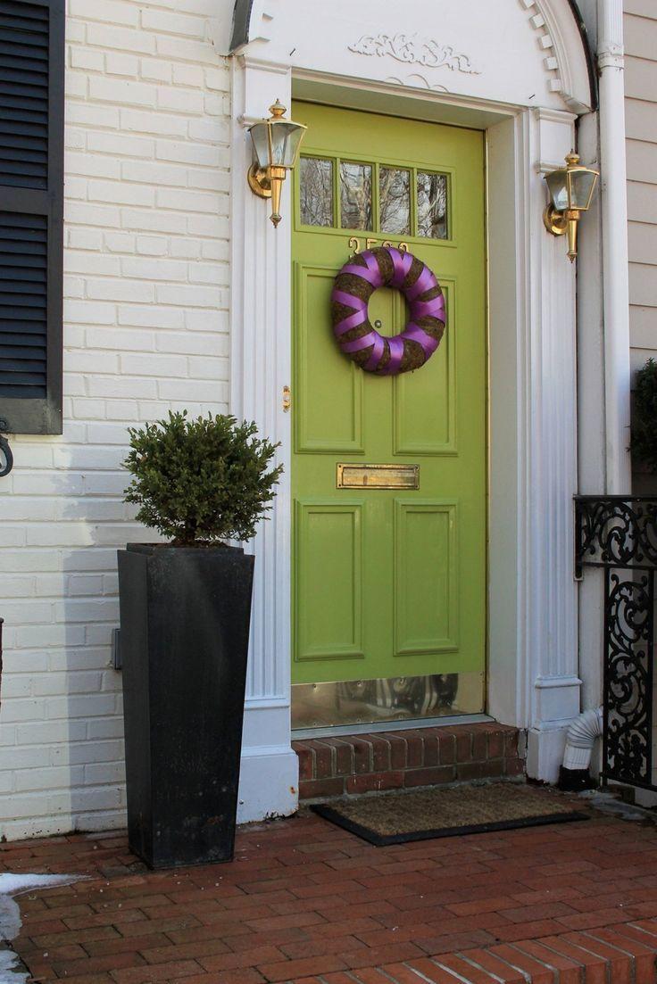 green front door gold mail slot kickboard | Home: Details that ...