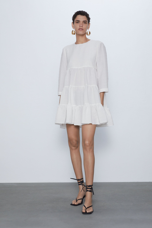 zara - woman - textured weave dress in 2020 | woven dress