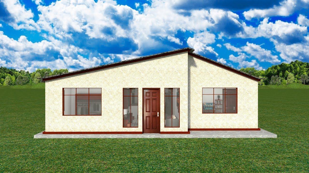 Planos casas 1 piso 3 dormitorios con medidas 2 baños sala/comedor cocin...