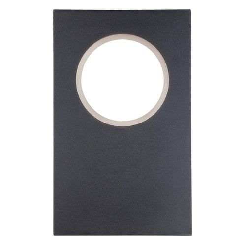 Modern Forms WS-W5116 Void 16 Height LED Dimming Outdoor Wall Sconce Dark Sky Friendly (Black Finish) (Iron)