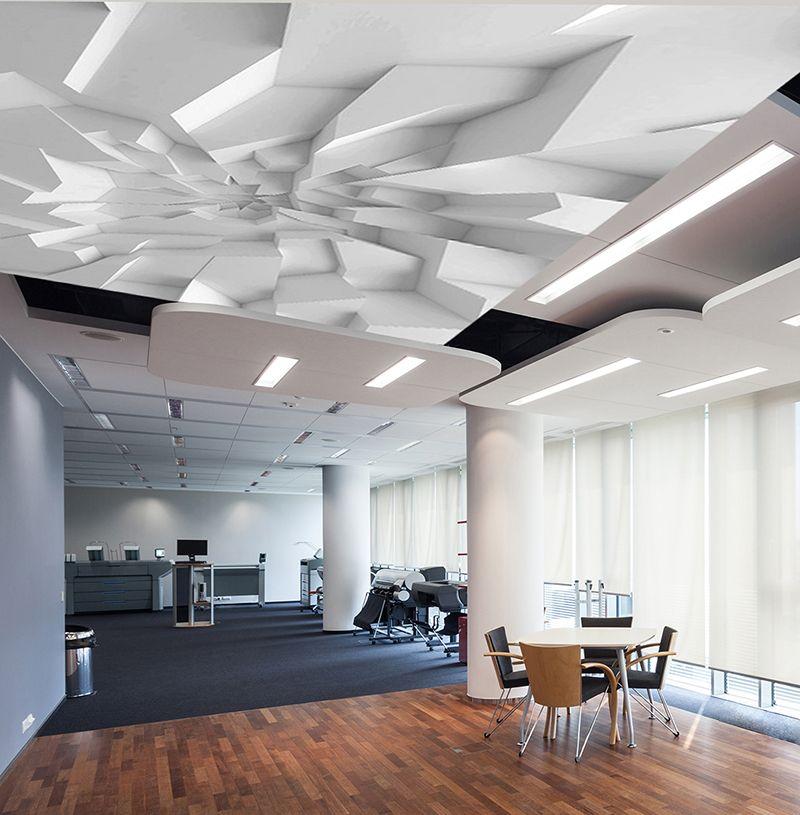 Décor plafond trompe l\u0027oeil 3D - Blocs de plâtre