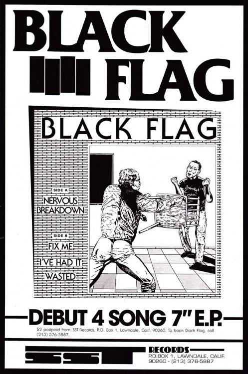 Black Flag Poster Black Flag Music Poster Punk Music