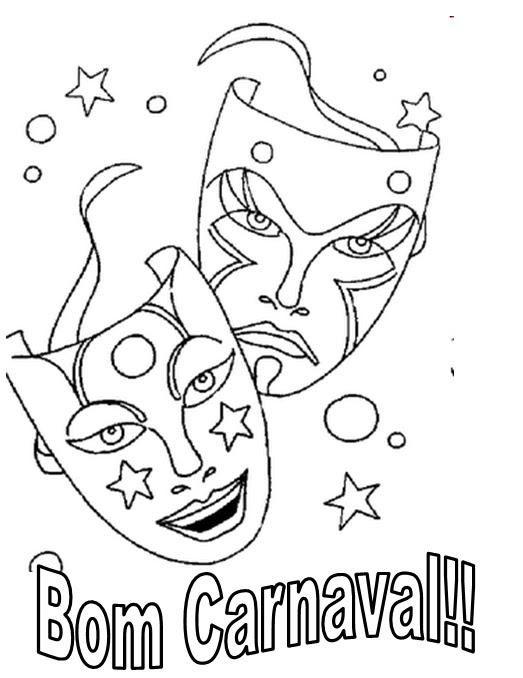 Confira: Desenhos de carnaval para imprimir e colorir - Criança ...
