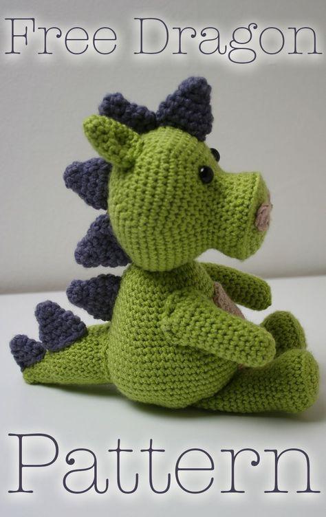 Free Crochet Dragon Pattern by   Pinterest   Probar, Dragones y ...