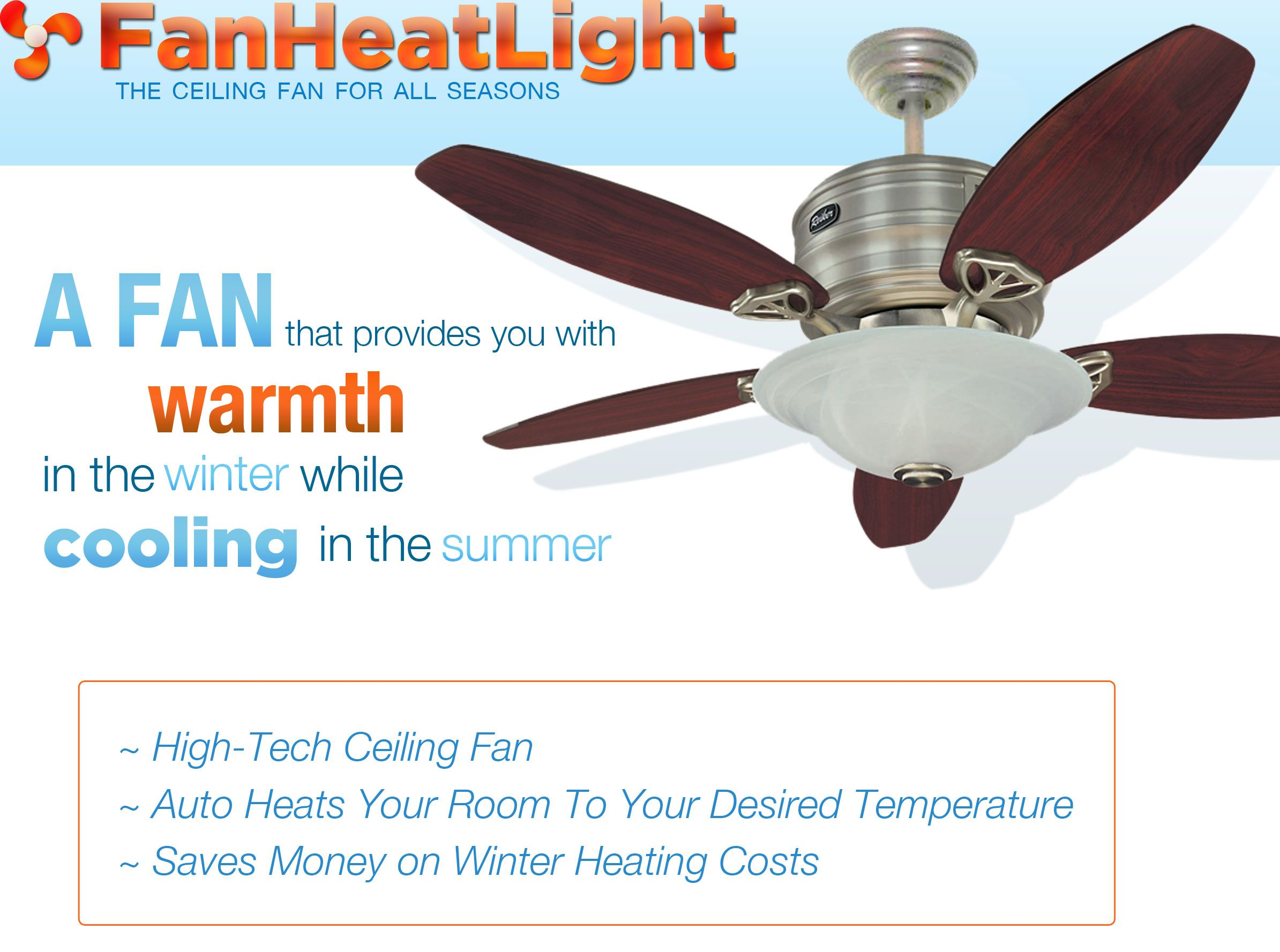 An efficient ceiling fan with a heater keep cold rooms in your home official home of the reiker room conditioner ceiling fan heater heats during the winter and cools during the summer the ceiling fan for all seasons aloadofball Images