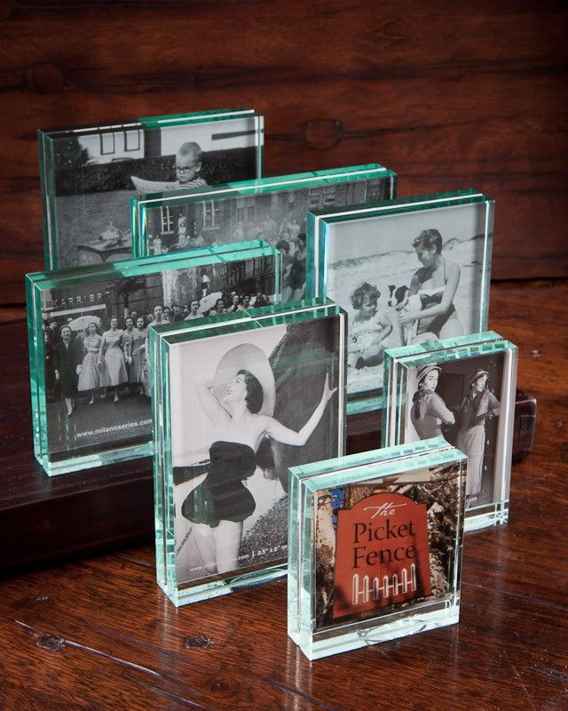 These block glass Milano Series Clarity Picture Frames are classic ...