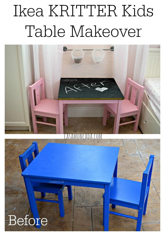 Ikea Kritter Kids Table Makeover Table Makeover Kid Table Ikea
