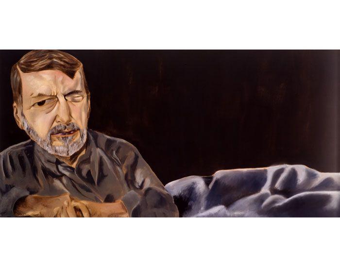 Francesco Clemente - Robert Creeley 2002 Oil on canvas 42 x 84 in 106.68 x 213.36 cm
