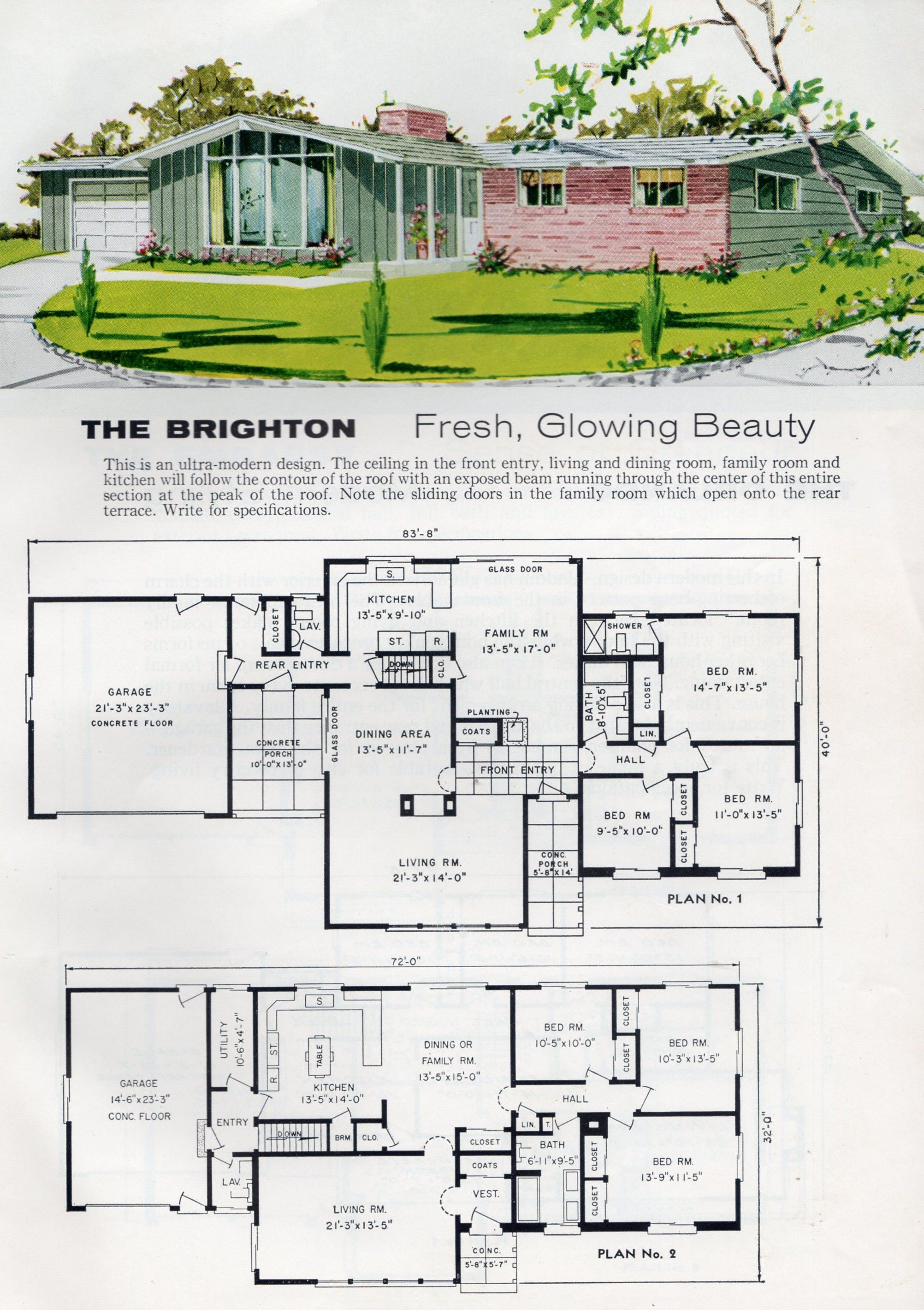 Pin by 61custom on vintage house plans Vintage house