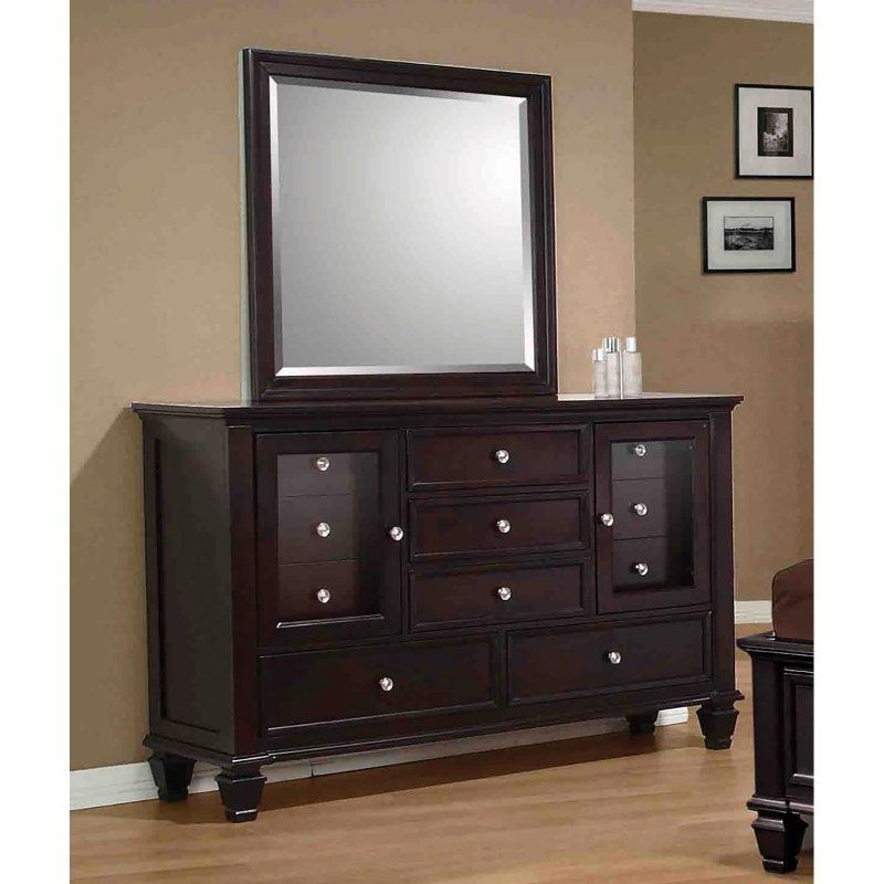 Coaster Furniture Sandy Beach 5 Drawer Dresser Black - COA3613-4