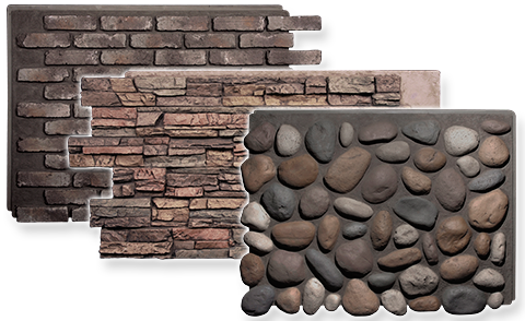 Diy Faux Stone Panels Faux Brick Riverrocks To Cover Up Ugly Conrete Foundations Create Walls