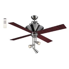 Harbor breeze 52 in galileo brushed chrome ceiling fan with light ceiling harbor breeze 52 in aloadofball Gallery