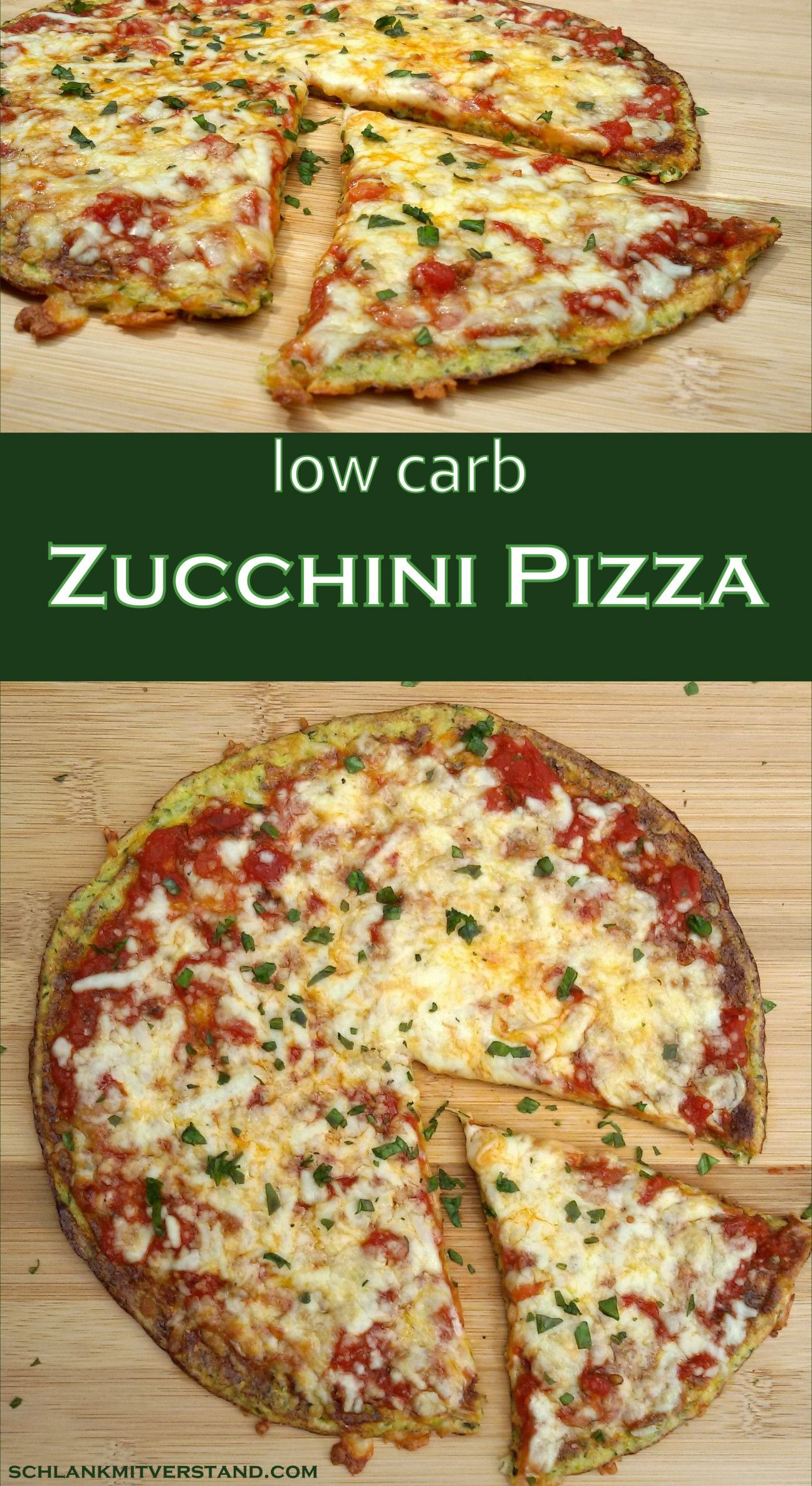Zucchini Pizza low carb vegetarisch #lowcarbveggies