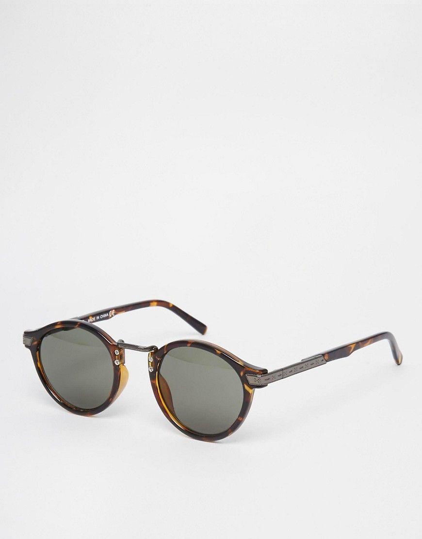 dcaee9606d DESIGN vintage round lens sunglasses in 2019