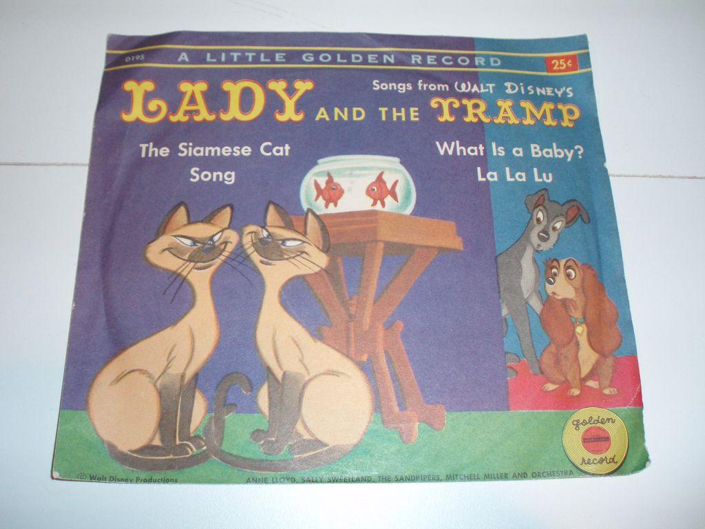Little Golden Record Walt Disney S Lady And The Tramp Siamese Cat Song Disney Ladies Walt Disney Siamese Cats