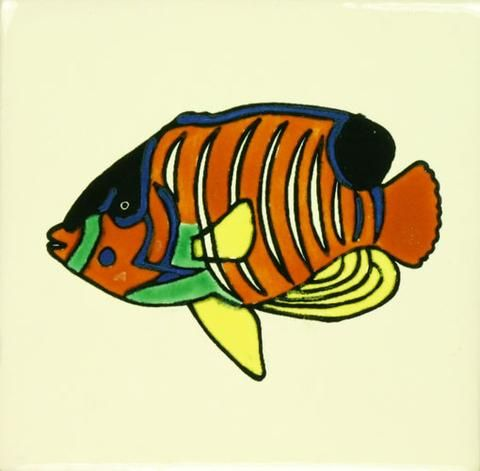 Superior Especial Decorative Ceramic Mexican Tile   Angel Fish Pictures Gallery