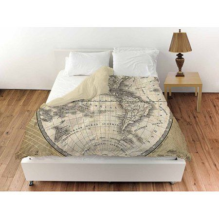 Thumbprintz french world map 3 duvet cover brown products thumbprintz french world map 3 duvet cover brown gumiabroncs Image collections