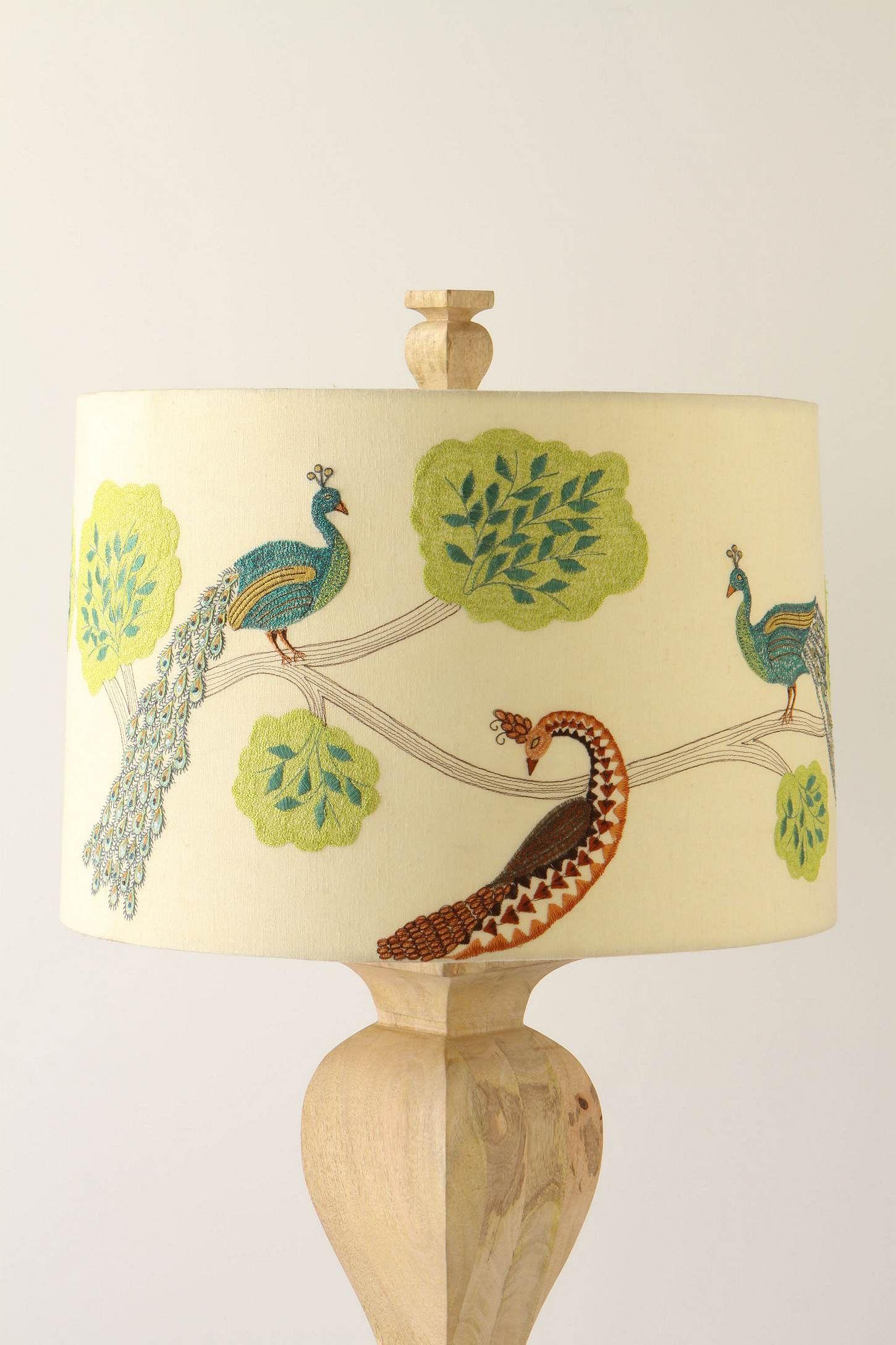 Plumage Shade Anthropologie Com Peacock Decor Anthropologie Lamp I Love Lamp