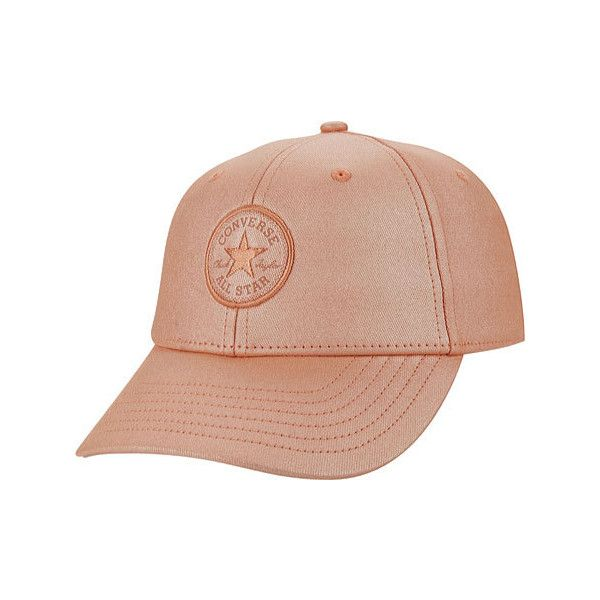 ebec8a3a376 Women s Converse Core Metallic Baseball Cap - Rose Gold ( 30) ❤ liked on  Polyvore featuring accessories