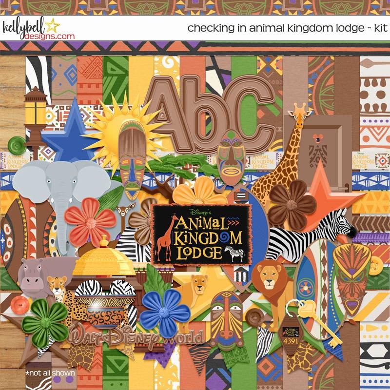 Checking In Animal Kingdom Lodge Kit Kellybell Designs Disney Scrapbook Animal Kingdom Lodge Animal Kingdom
