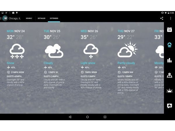 1Weather (Android) (Free) | App: Weather | App, Android apps, Android