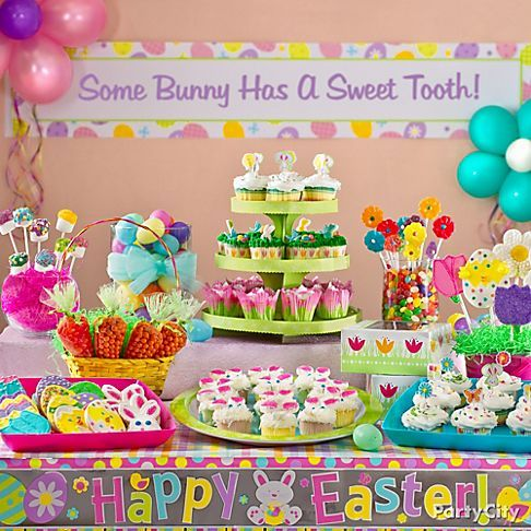 Easter Candy Buffet Party decoration ideas