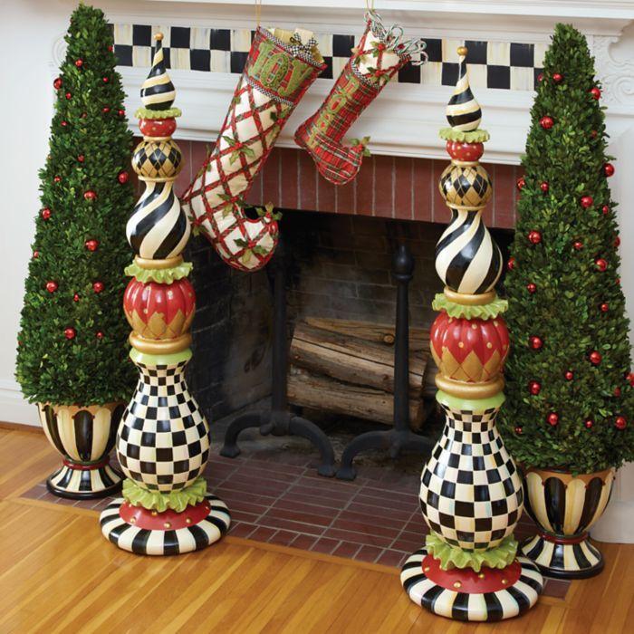 Mackenzie Childs Christmas.Mackenzie Childs Courtly Christmas Boxwood Topiary In 2019
