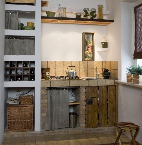 Szafki Kuchenne Z Cegly Szukaj W Google Brick Kitchen Home Decor Home