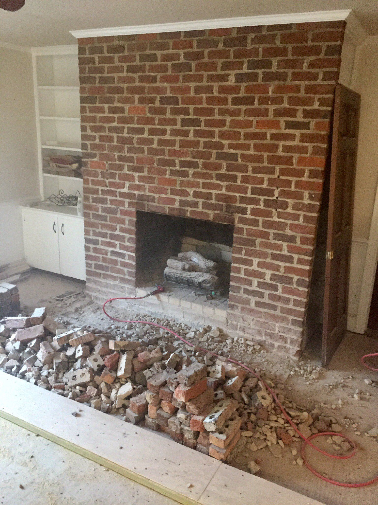 Covering A Brick Fireplace Easy Do It Yourself Project Brick