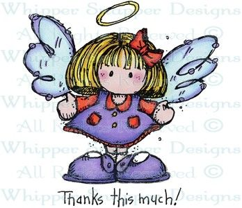 Thankful Angel - Angels/Fairies - Rubber Stamps - Shop
