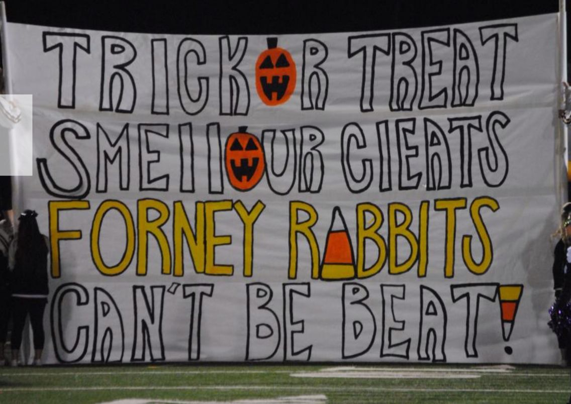 halloween football run through signs