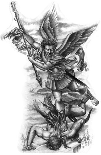 st michael tattoo designs google search ink pinterest st michael tattoo saint michael. Black Bedroom Furniture Sets. Home Design Ideas