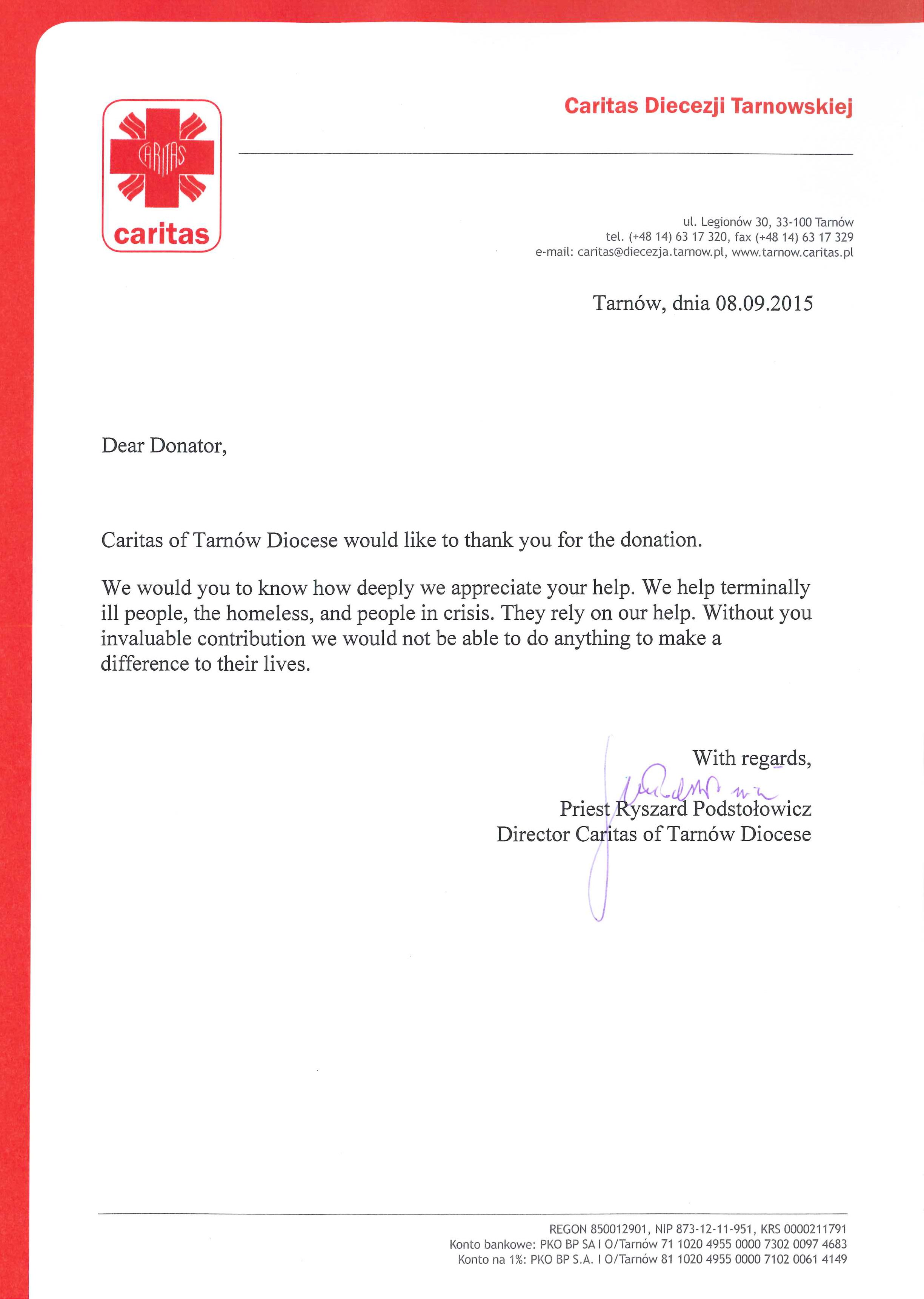 Charity Letterhead Requirements Business Letter Format