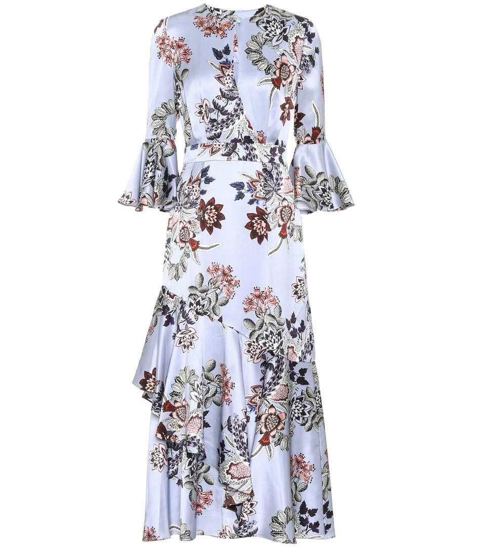 Florence silk floral dress Erdem efkRs