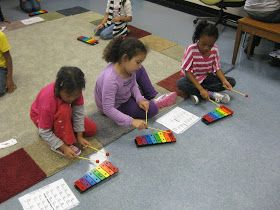 Two weeks ago, 2nd graders earned enough behavior stars to get to have a special Music Centers day. During our centers day, there were 4 dif...