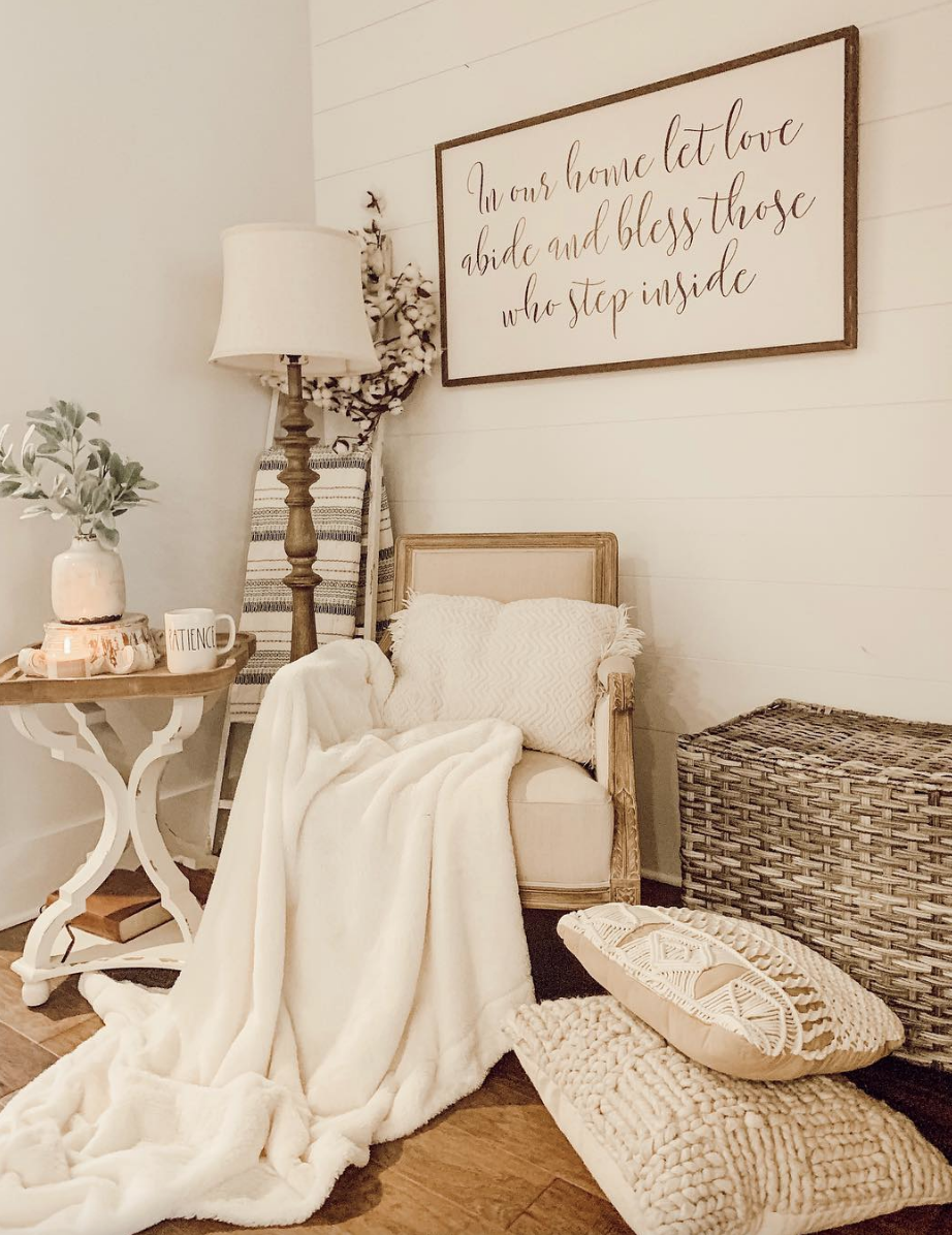 rustic farmhouse living room style by kayla herndon~ vintage chic