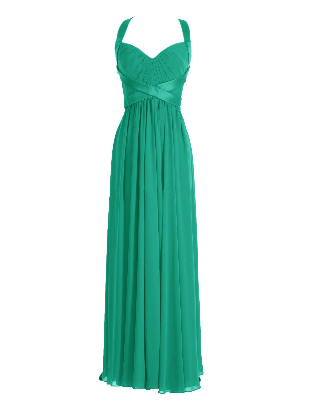 Diyouth Halter Long Bridesmaid Dresses Column Sweetheart Formal ...