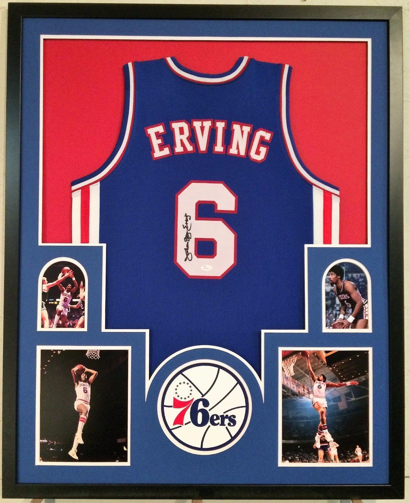 d57027d6fc51 FRAMED JULIUS ERVING DR. J SIGNED PHILADELPHIA 76ERS JERSEY JSA W  AUTHENTICATED - Jerseys