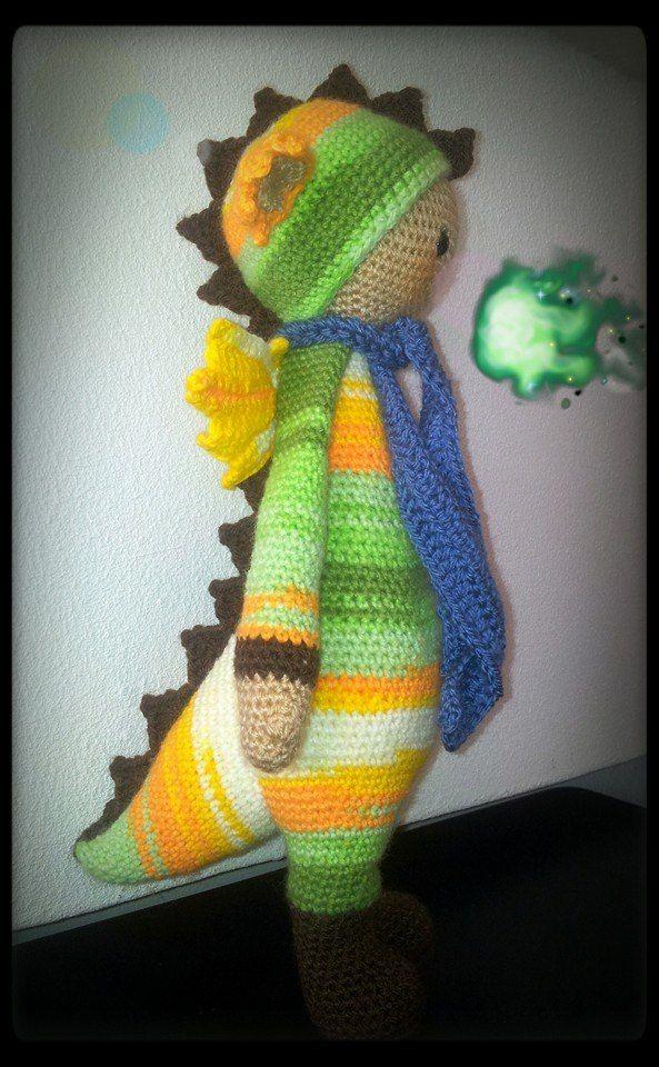 Dirk de draak gemaakt met Stylecraft gemaakt door | Lalylala | Pinterest