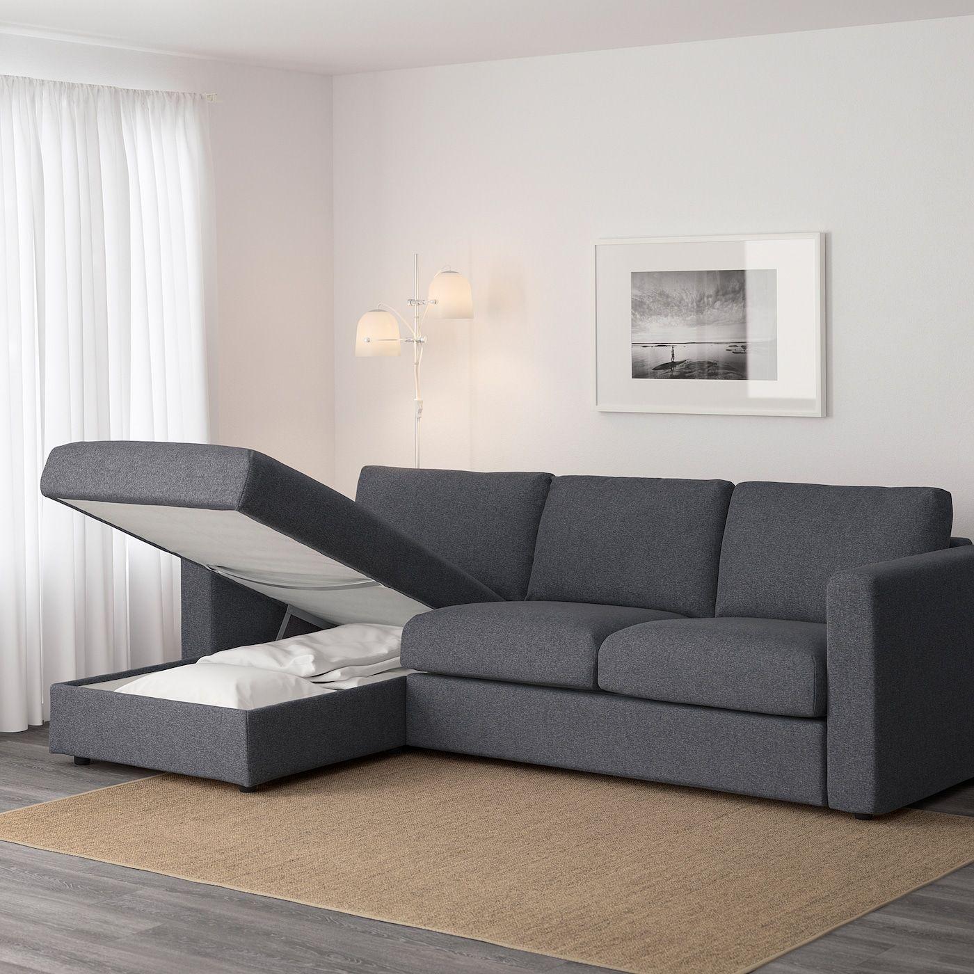 Ikea Vimle 3er Sofa Mit R Eacute Camiere Gunnared Mittelgrau In 2020 3er Sofa Recamiere Sofa
