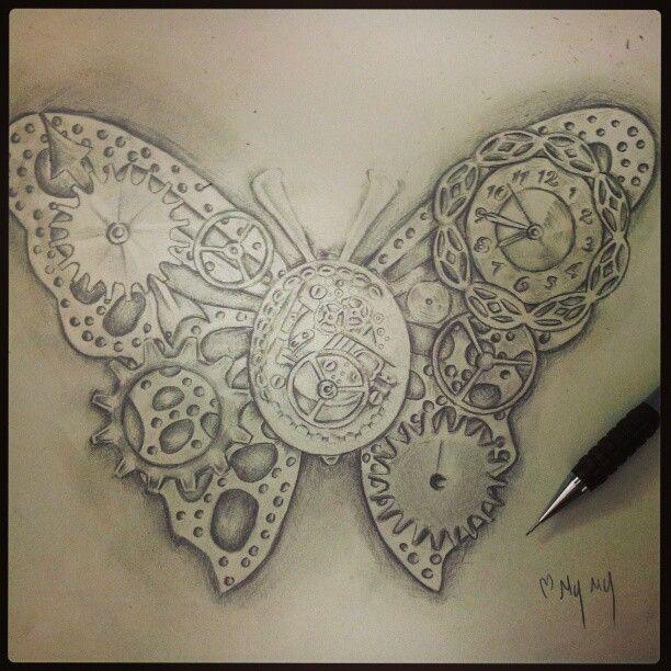 steampunk butterfly sketch...I love unique butterflies! !!