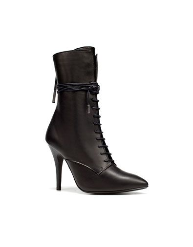 LACE-UP ANKLE BOOT - Last sizes - TRF - ZARA Switzerland