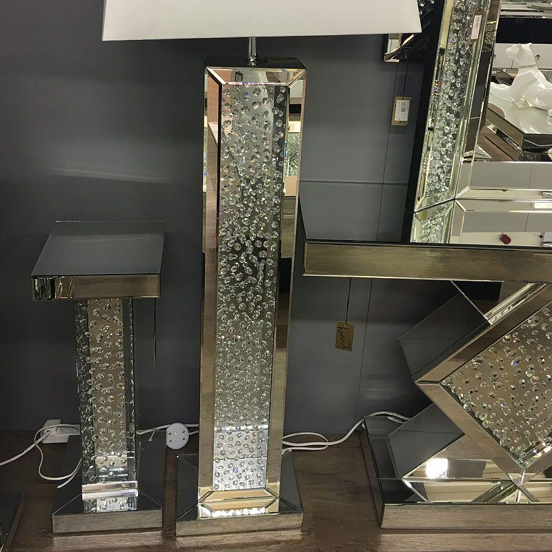 Floating Crystal Mirrored Floor Lamp